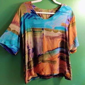 LAST CHANCE Vintage Abstract Shirt